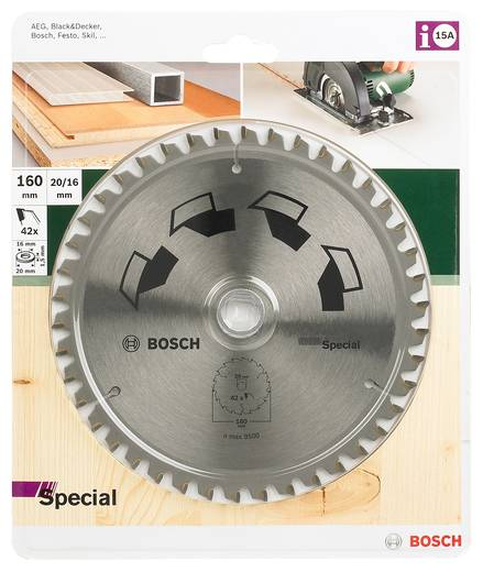 Kreissägeblatt SPECIAL Bosch Accessories 2609256887 Durchmesser: 160 mm Zähneanzahl: 42 Sägeblatt