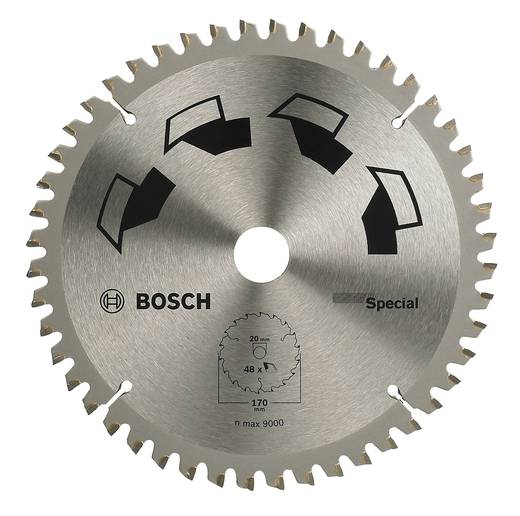 Kreissägeblatt SPECIAL Bosch Accessories 2609256888 Durchmesser: 170 mm Zähneanzahl: 48 Sägeblatt
