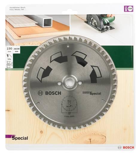 Kreissägeblatt SPECIAL Bosch Accessories 2609256891 Durchmesser: 190 mm Zähneanzahl: 54 Sägeblatt