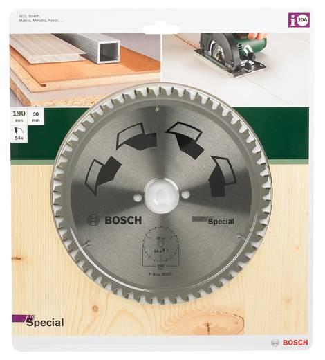 Kreissägeblatt SPECIAL Bosch Accessories 2609256892 Durchmesser: 190 mm Zähneanzahl: 54 Sägeblatt