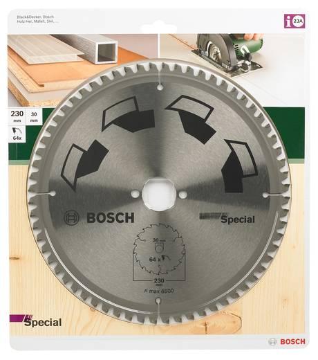Kreissägeblatt SPECIAL Bosch Accessories 2609256894 Durchmesser: 230 mm Zähneanzahl: 64 Sägeblatt