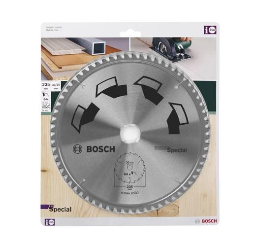 Kreissägeblatt SPECIAL Bosch Accessories 2609256895 Durchmesser: 235 mm Zähneanzahl: 64 Sägeblatt