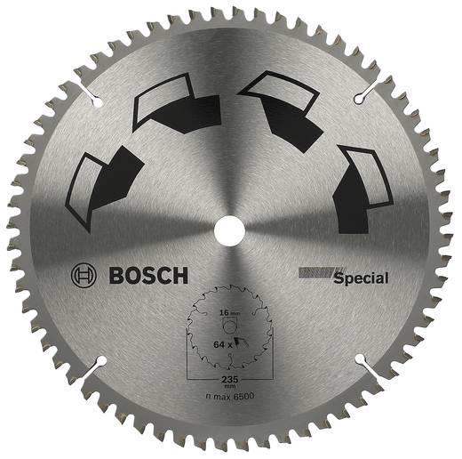 Kreissägeblatt SPECIAL Bosch Accessories 2609256899 Durchmesser: 235 mm Zähneanzahl: 64 Sägeblatt