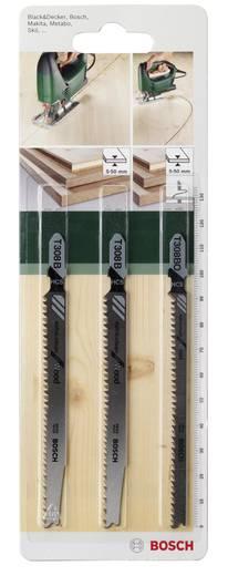 3tlg. Stichsägeblatt-Set Einnockenschaft Bosch Accessories 2609256A12 3 St.