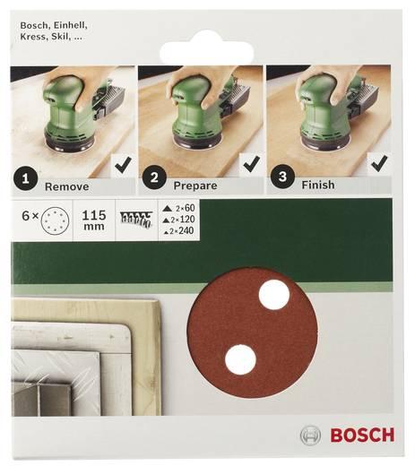 Exzenterschleifpapier-Set mit Klett, gelocht Körnung 60, 120, 240 (Ø) 115 mm Bosch Accessories 2609256A21 1 Set