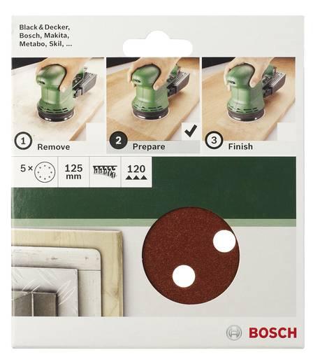 Exzenterschleifpapier mit Klett, gelocht Körnung 120 (Ø) 125 mm Bosch Accessories 2609256A26 5 St.