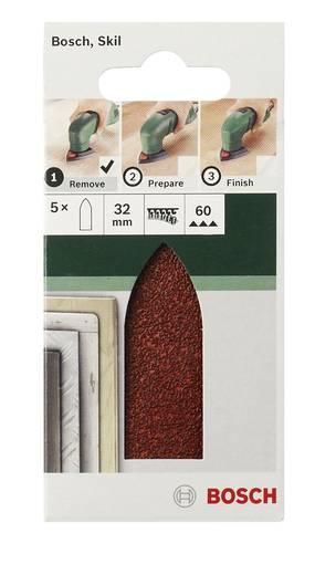 Deltaschleifpapier mit Klett, ungelocht Körnung 80 Eckmaß 32 mm Bosch Accessories 2609256A38 5 St.