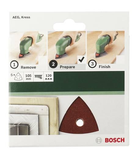 Bosch Accessories 2609256A59 Deltaschleifpapier mit Klett, gelocht Körnung 240 Eckmaß 105 mm 5 St.