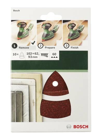 Bosch Accessories 2609256A67 Multischleifpapier mit Klett, gelocht Körnung 180 (L x B) 102 mm x 62.93 mm 10 St.