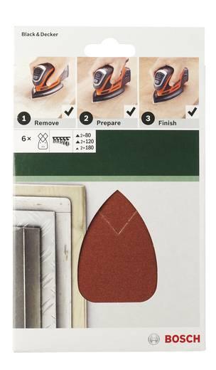 Multischleifpapier-Set mit Klett, gelocht Körnung 80, 120, 180 (L x B) 135 mm x 95 mm Bosch Accessories 2609256A72 1 S