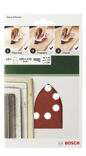 Bosch Accessories 2609256A78 Multischleifpapier mit Klett, gelocht Körnung 240 (L x B) 170 mm x 100 mm 5 St.