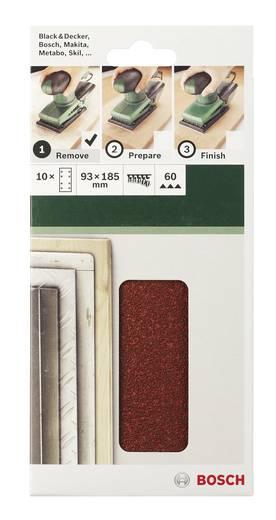 Schwingschleifpapier mit Klett, gelocht Körnung 60 (L x B) 185 mm x 93 mm Bosch Accessories 2609256A88 10 St.