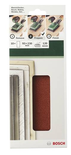 Schwingschleifpapier gelocht Körnung 80 (L x B) 230 mm x 93 mm Bosch Accessories 2609256B03 10 St.