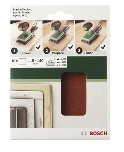 Bosch Accessories 2609256B18 Schwingschleifpapier-Set ungelocht Körnung 60, 120, 180 (L x B) 140 mm x 115 mm 1 Set