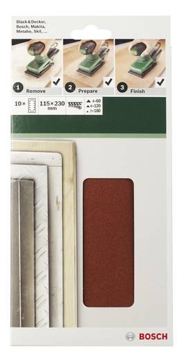 Schwingschleifpapier mit Klett, gelocht Körnung 60 (L x B) 230 mm x 115 mm Bosch Accessories 2609256B20 10 St.