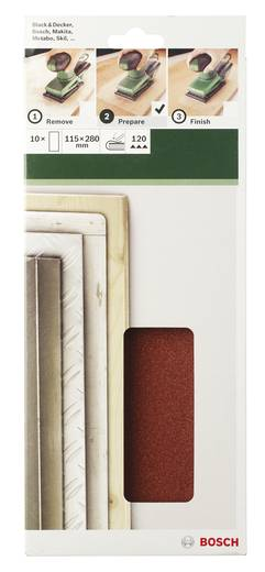 Schwingschleifpapier ungelocht Körnung 60 (L x B) 280 mm x 115 mm Bosch Accessories 2609256B33 10 St.