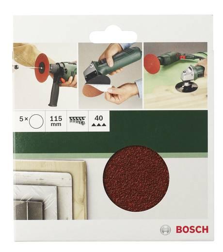 Schleifpapier für Schleifteller ungelocht Körnung 40 (Ø) 115 mm Bosch Accessories 2609256B36 5 St.