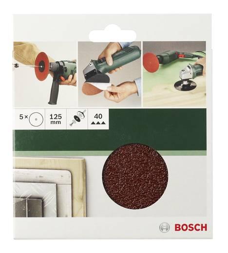 Schleifpapier für Schleifteller ungelocht Körnung 40 (Ø) 125 mm Bosch Accessories 2609256B48 5 St.