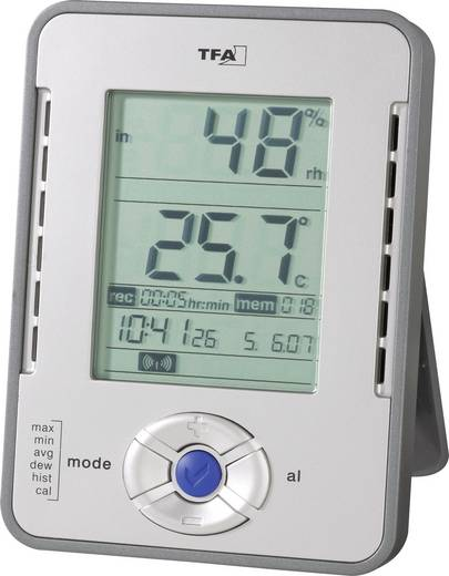 Luftfeuchtemessgerät (Hygrometer) TFA HygroLogger 0 % rF 99 % rF Kalibriert nach: Werksstandard