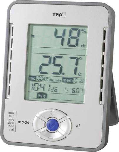 TFA HygroLogger Luftfeuchtemessgerät (Hygrometer) 0 % rF 99 % rF Datenloggerfunktion, Taupunkt-/Schimmelwarnanzeige Kali