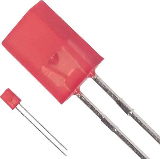 Broadcom HLMP-S201 LED bedrahtet Rot Rechteckig 5.06 x 2.11 mm 7.5 mcd 110 ° 30 mA 1.9 V