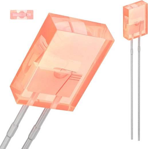 Broadcom HLMP-S201-D0000 LED bedrahtet Rot Rechteckig 5.06 x 2.11 mm 3.5 mcd 110 ° 30 mA 1.9 V