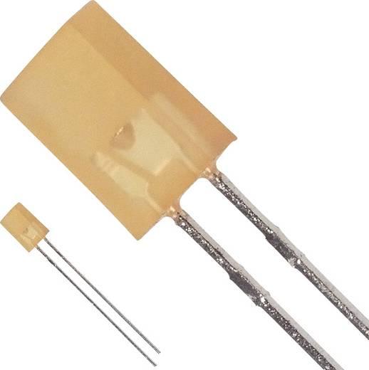 LED bedrahtet Gelb Rechteckig 5.06 x 2.11 mm 4.0 mcd 110 ° 20 mA 2.1 V Broadcom HLMP-S301