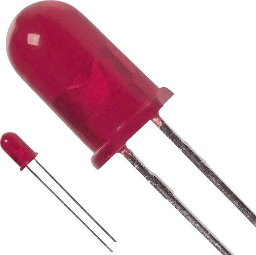 Broadcom HLMP-3301 LED bedrahtet Rot Rund 5 mm 6.1 mcd 60 ° 30 mA 1.9 V