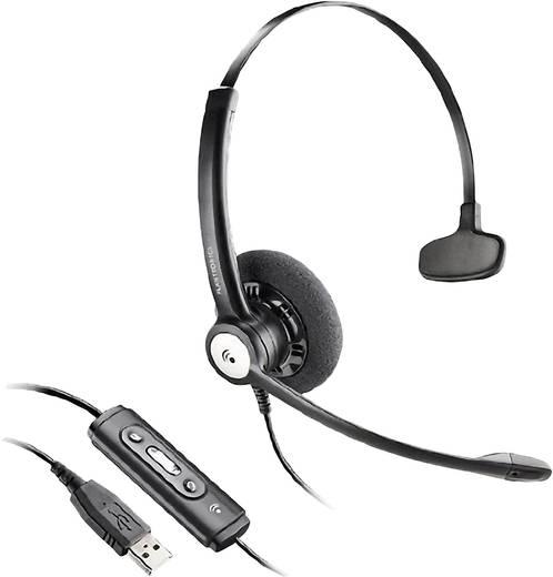 Telefon-Headset USB schnurgebunden, Mono Plantronics Blackwire C610/A On Ear Schwarz