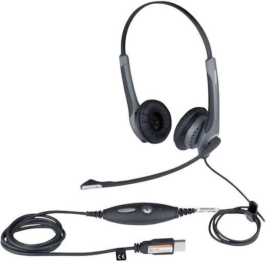 Telefon-Headset USB schnurgebunden, Stereo Jabra GN2000 MS On Ear Schwarz