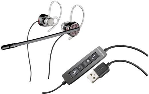 Telefon-Headset USB schnurgebunden, Mono, Stereo Plantronics Blackwire C435-M In Ear Schwarz, Silber
