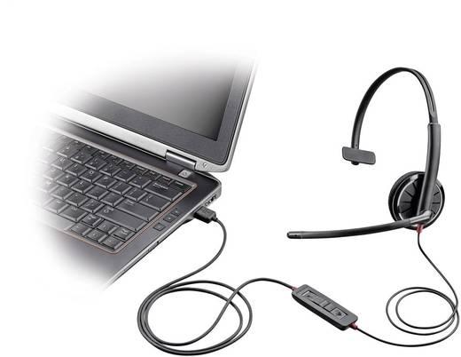 Telefon-Headset USB schnurgebunden, Mono Plantronics Blackwire C310-M On Ear Schwarz