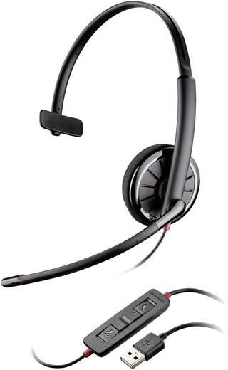 Telefon-Headset USB schnurgebunden, Mono Plantronics Blackwire C310 On Ear Schwarz