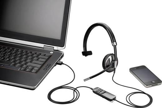 Telefon-Headset USB schnurgebunden, Mono Plantronics Blackwire C710-M On Ear Schwarz, Silber
