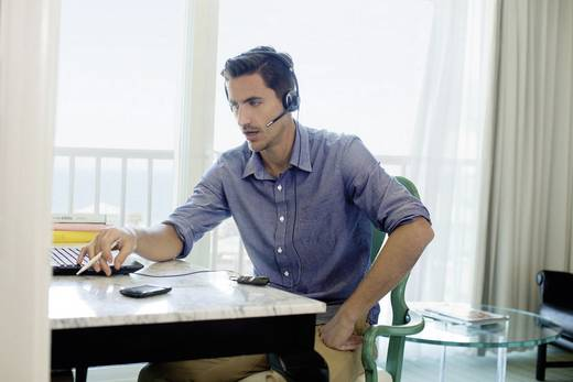Telefon-Headset USB schnurgebunden, Mono Plantronics Blackwire C710 On Ear Schwarz, Silber