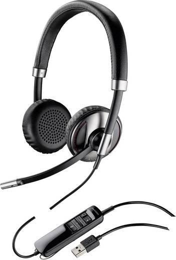Plantronics Blackwire C720 Telefon-Headset USB schnurgebunden, Stereo On Ear Schwarz, Silber