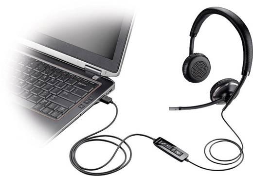 Telefon-Headset USB schnurgebunden, Stereo Plantronics Blackwire C520-M On Ear Schwarz, Silber