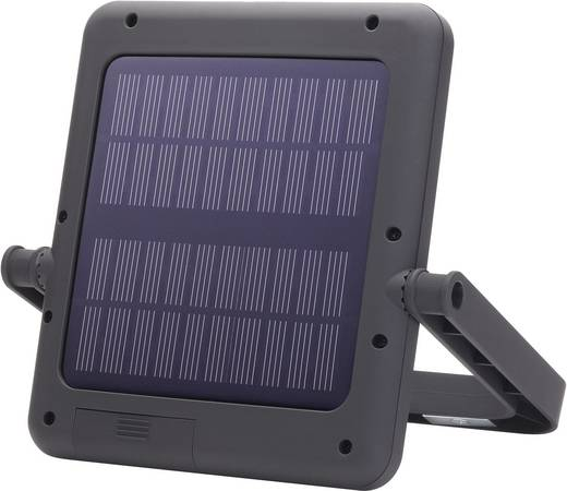 LED Camping-Leuchte Renkforce SunPad solarbetrieben Schwarz