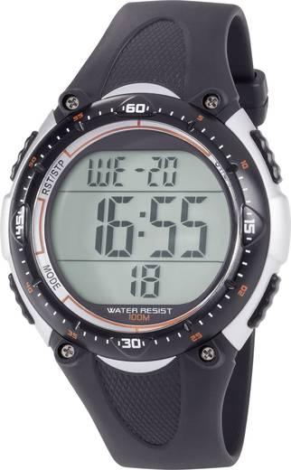 Quarz Armbanduhr YP-06334A-02 (Ø x H) 50 mm x 14 mm Schwarz Gehäusematerial=Kunststoff Material (Armband)=Kunststoff Ren
