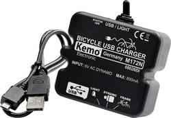 Regulátor nabíjení Kemo M-172N - USB k dynamu jízdního kola, USB, černá