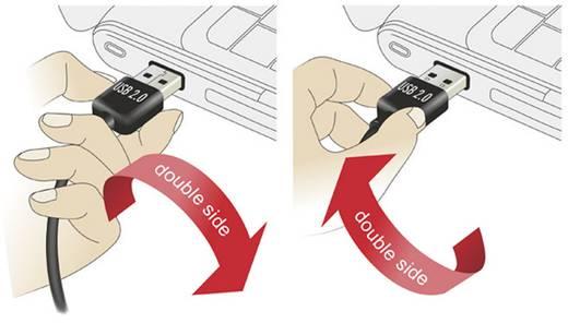 USB 2.0 Anschlusskabel [1x USB 2.0 Stecker A - 1x USB 2.0 Stecker Micro-B] 5 m Schwarz beidseitig verwendbarer Stecker,