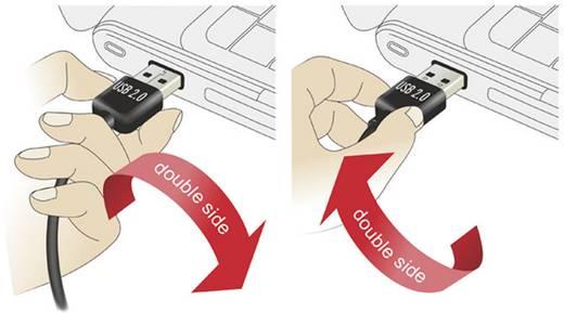 USB 2.0 Anschlusskabel [1x USB 2.0 Stecker A - 1x USB 2.0 Stecker Mini-B] 1 m Schwarz vergoldete Steckkontakte, UL-zerti