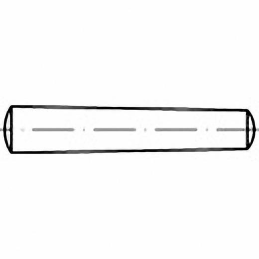 TOOLCRAFT 102769 Kegelstift (Ø x L) 7 mm x 80 mm Stahl 50 St.