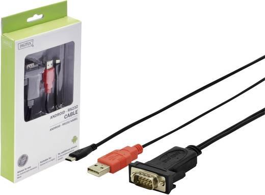 USB 2.0 Anschlusskabel [1x USB 2.0 Stecker Micro-B - 1x RS232-Stecker 3pol.] mit Android-Unterstützung 1 m Schwarz Digi
