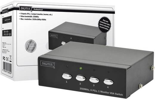 Digitus Professional DS-45100-1 4 Port VGA-Switch 1920 x 1080 Pixel