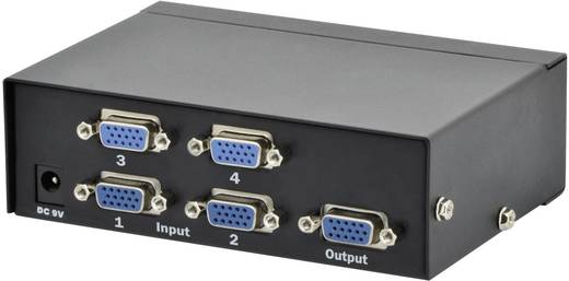 4 Port VGA-Switch Digitus Professional DS-45100-1 1920 x 1080 Pixel