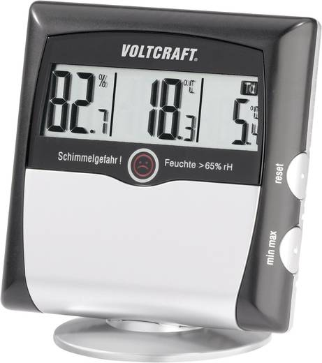 VOLTCRAFT MS-10 Luftfeuchtemessgerät (Hygrometer) 1 % rF 99 % rF Taupunkt-/Schimmelwarnanzeige Kalibriert nach: Werkssta