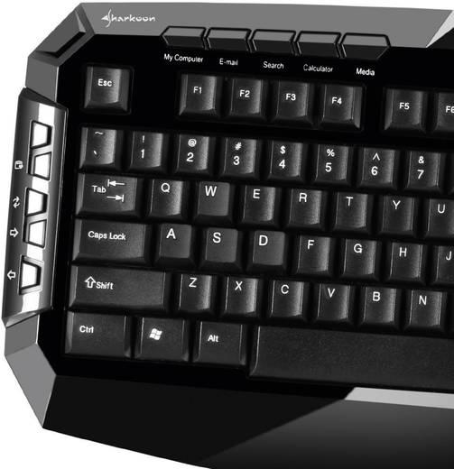 USB-Gaming-Tastatur Sharkoon Skiller Schwarz