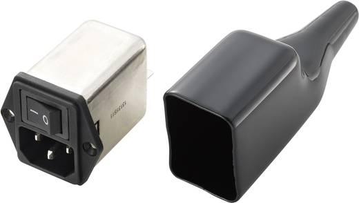 Netzfilter mit Kaltgerätebuchse, mit PVC-Abdeckung 250 V/AC 10 A (L x B) 40 mm x 40 mm 10SS6-B2AS-QBB 1 St.