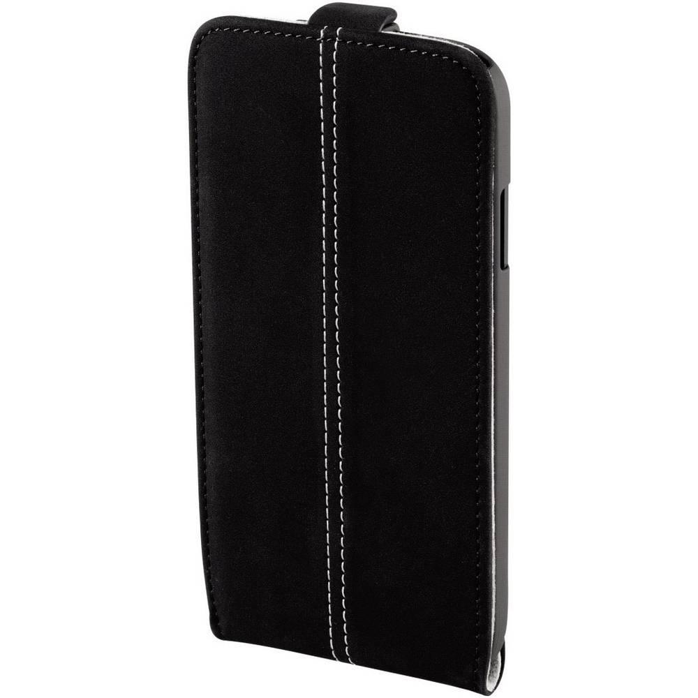 etui pour iphone 5 5s smart case nubuk hama noir sur le. Black Bedroom Furniture Sets. Home Design Ideas
